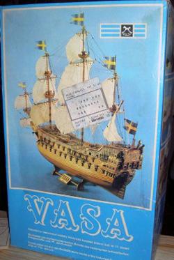 Bild på lådan till Vasa modell från IGRA